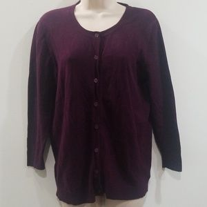 Merona women's purple size medium sweater